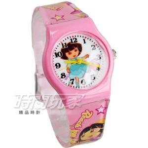 Disney 迪士尼 時尚卡通手錶 Dora朵拉 兒童手錶 數字 女錶 粉紅色 D朵拉粉小-A