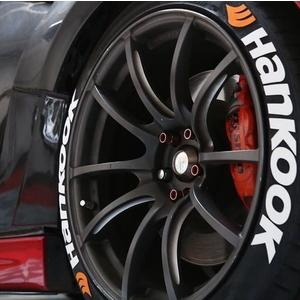 汽車韓泰輪胎字母貼改裝個性低趴輪胎貼紙輪轂裝飾3D反光輪胎字 小宅女