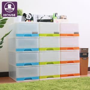 【HOUSE】采漾4 層抽屜式整理箱藍色