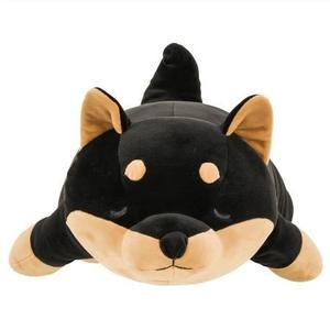 日本動物療癒系抱枕絨毛娃娃玩偶趴睡M號黑柴犬312532通販屋
