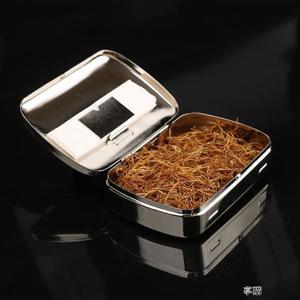 不銹鋼金屬手捲煙 便攜男士金屬煙絲盒 散煙斗煙絲密封保濕煙盒 享購