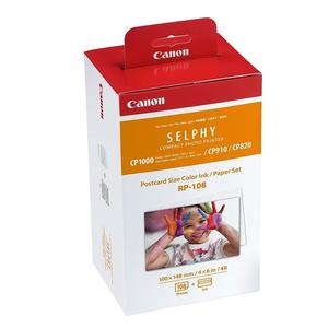 Canon RP-108 108張 4x6相片紙 含色帶【只適用於 CP1300/CP1200/CP1000/CP910/CP820】