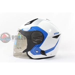 [中壢安信]ZEUS瑞獅安全帽 ZS-612A ZS612A AD4 白藍 安全帽 半罩式安全帽