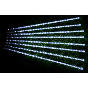白光LED流星雨燈 (50CM/8條) ~聖誕燈、燈泡串、燈串、燈飾