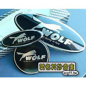 莫名其妙倉庫【2L027 Wolf 車標貼紙 前後】Ford Focus MK3 請註明 Mondeo 改裝 立體車貼廠徽 免拆換 LOGO