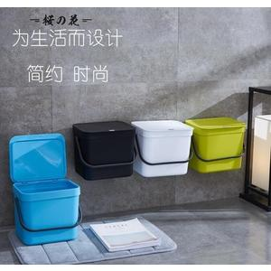 歐式創意無痕貼掛壁垃圾桶家用手提帶蓋廚房衛生間大號壁掛垃圾桶【櫻花本鋪】