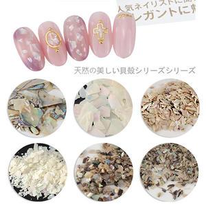 【029】日系天然貝殼片 貝殼粉系列粉光療甲指甲油貼(單入1色)