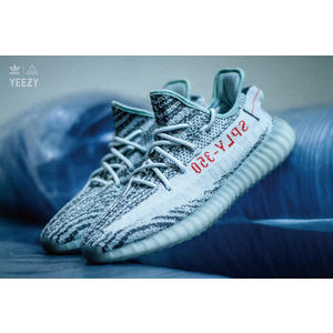 08317ca65 ISNEAKERS adidas Yeezy Boost 350 V2 Blue Tint 冰藍灰斑馬B37571