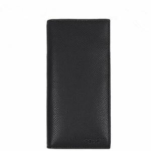 Coach長夾F74978男款黑色皮夾長款對折錢包錢夾黑色BLK