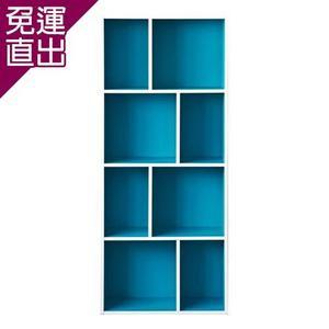 優居家 和風四層八格櫃藍色【免運直出】