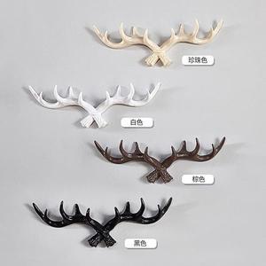 鹿頭鹿角掛鉤創意衣帽架墻上鑰匙收納玄關門口墻壁裝飾壁掛
