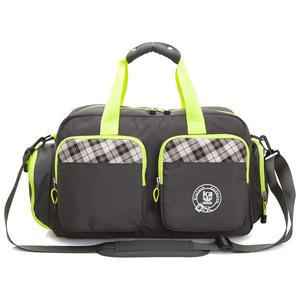 旅行袋 金安德森 跳躍時空  機能雙口袋手提旅行袋(中款)-復古灰