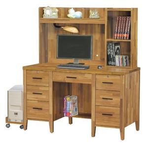 【新北大】✪ L7235-10 詩肯集層柚木色4.2尺書桌(上+下)(含主機架)-18購
