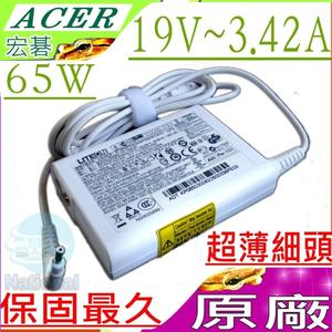 ACER 65W 變壓器(原廠白)-宏碁 19V,3.42A,R7-371T,V3-331,SP111,R7-571,R7-572,R7-371,R7-572G,P614,TMP614