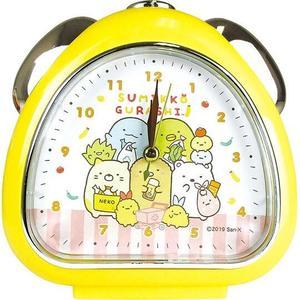 〔小禮堂〕角落生物 三角型鬧鐘《黃.購物》桌鐘.時鐘 4548626-09272