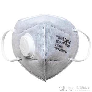 防甲醛二手煙口罩防油漆味裝修專用防毒孕婦專用款活性炭過濾口罩  深藏blue