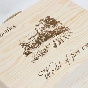 紅酒包裝盒通用六支裝酒禮盒紅酒木盒高檔盒子木質 6支裝紅酒木箱洛麗的雜貨鋪