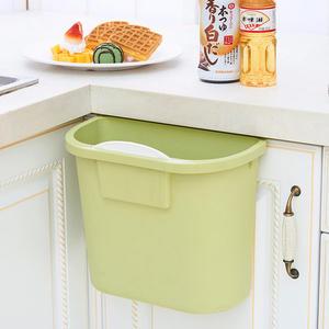 春季上新 無痕貼壁掛式塑料垃圾桶家用廚房衛生間帶蓋垃圾桶桌面收納小桶