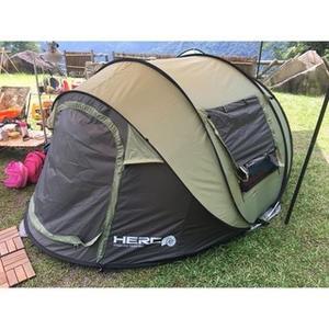 露營海灘帳篷自動速開帳篷秒拋帳船帳超大4人露營帳篷