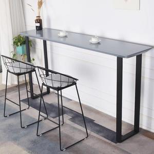 吧台桌 北歐實木吧台桌現代高腳桌窄桌簡約長條桌靠墻吧台桌椅網紅吧台桌 享購