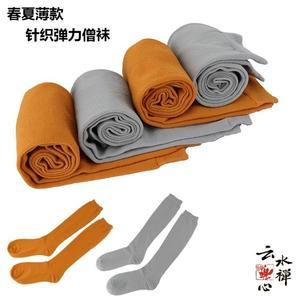 佛教用品僧服短褂 僧襪和尚襪子綁腿 夏季男女純棉僧人針織綁腿襪