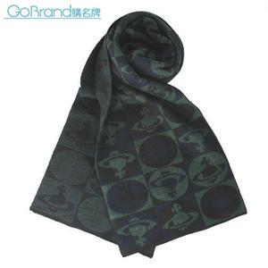 Vivienne Westwood 新款滿版星球圖樣圍巾(綠色)910533-2