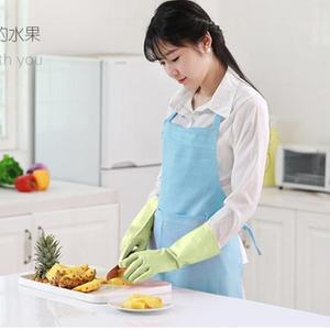 刷碗手套 蔓妙洗碗手套塑膠橡膠防水乳膠膠皮家務清潔洗衣耐用廚房刷碗薄款【韓國時尚週】
