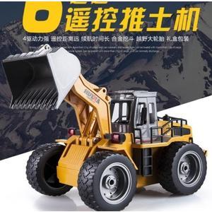 遙控汽車匯納遙控車推土機合金遙控挖掘機車兒童裝載機鏟車玩具遙控車男孩DF  CY潮流