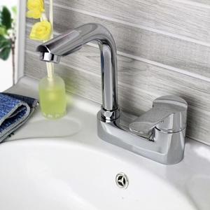 水龍頭 全銅面盆龍頭衛生間水龍頭冷熱洗臉盆洗手池單把雙孔三孔台盆龍頭 魔法空間