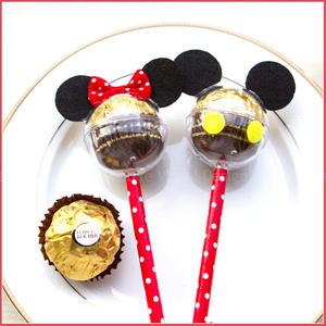 米奇米妮金莎巧克力棒(單1支價,可選米奇或米妮)-生日分享 慶生 婚禮小物 餐廳民宿禮贈品