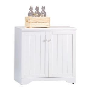 【森可家居】葛妮絲純白2.7尺餐櫃 8JX493-4 廚房櫃 碗盤收納 白色 英法鄉村風