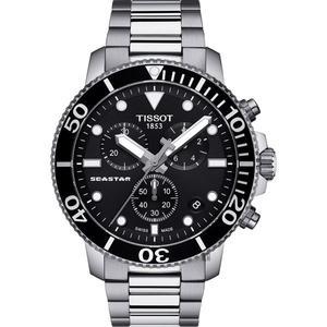 TISSOT 天梭錶 SEASTAR1000海洋之星潛水石英款(T1204171105100)黑/45mm