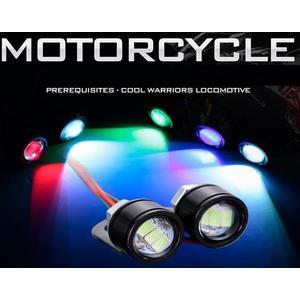 1.5W 機車方向鏡LED燈 2顆入 魚眼燈 頭射燈 5630 鬼火照地燈 後車尾照地燈 鷹眼燈 警示燈