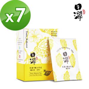 【日濢Tsuie】花蓮4號山苦瓜茶 纖活飲原味(10包/盒)x7盒