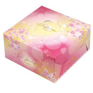 {和風}8吋手提布丁盒組(附盤) 蛋糕盒 (50入/組)