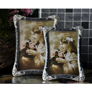 洛莉塔的銀髮簪 歐式古典哥特 經典手工鑲邊 相框