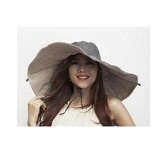 19CM超大沿帽防紫外線遮陽帽多用沙灘帽女士春夏天防曬