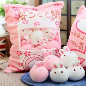 玩偶 日本可愛一大袋小兔子餅毛絨玩具創意零食抱枕網紅少女心【幸運閣】