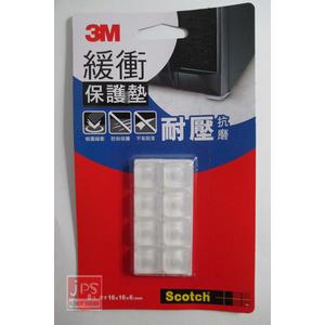 3M 透明方型緩衝保護墊 (16mm 8入) B1601