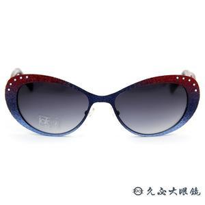 LAFONT 墨鏡 巴黎風尚 SWAROVSKI水鑽 太陽眼鏡 PAMPERO 367 漸層紅藍 久必大眼鏡