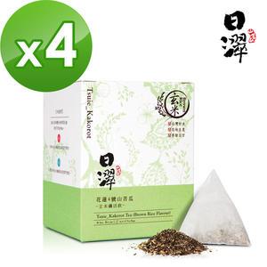 【日濢Tsuie】花蓮4號山苦瓜玄米茶(10包/盒)x4盒