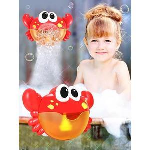 抖音同款螃蟹吐泡泡機吹嬰幼兒浴缸兒童沐浴寶寶浴室洗澡玩具戲水 MKS薇薇