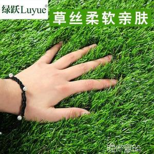 模擬草坪地毯人造草皮塑膠假草皮背墻戶外綠色墊子幼兒園陽台裝飾 港仔會社