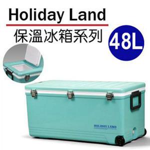 日本伸和假期冰桶-藍-48L 日本原裝進口 保冰 釣魚冰桶 冰磚冷藏箱 保冰包保冷劑 加厚保溫保冰箱