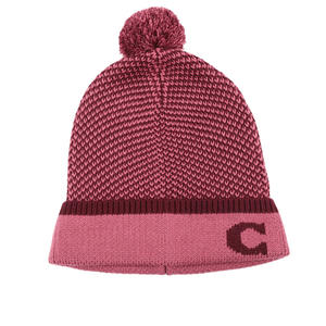 【COACH】C LOGO毛帽(粉紅色) F76492 PIN