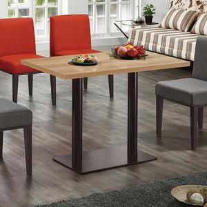 【森可家居】韋伯4尺木面餐桌(不含椅) 8ZX954-3 商用 餐廳 咖啡廳 木紋質感 黑鐵桌腳 限量品