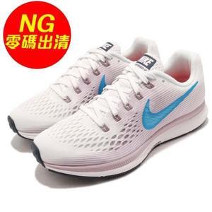 【US6.5-NG出清】Nike 慢跑鞋 Wmns Air Zoom Pegasus 34 右鞋口黃 紫 藍 氣墊 女鞋 運動鞋【PUMP306】