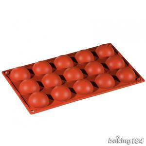 義大利 Pavoni 多連矽膠模 半圓型 半圓形 巧克力模 蛋糕模 慕斯模 果凍模 點心模 PV FR039