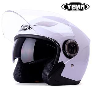 機車安全帽半盔覆式雙鏡片四季通用