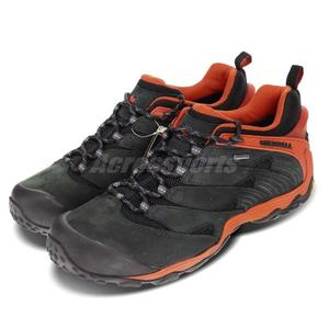 Merrell 戶外鞋 Chameleon 7 GTX 黑 橘 Gore-Tex 防水 越野 運動 休閒鞋 男鞋【PUMP306】 ML98291